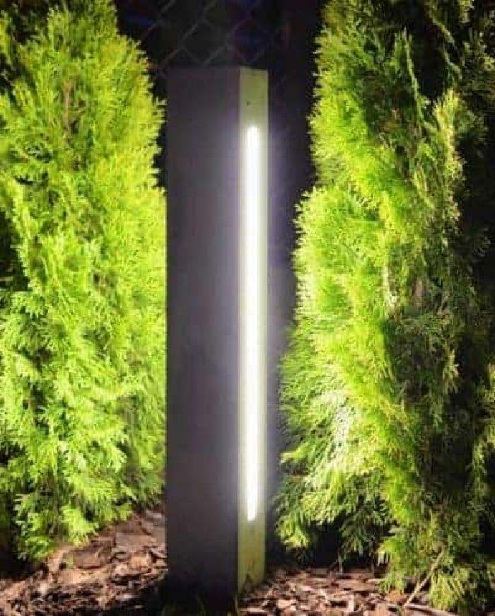 Betonowa lampa LED do ogrodu