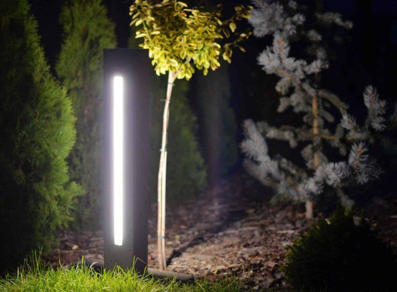 Oświetlenie ogrodu z wykorzystaniem lamp betonowych