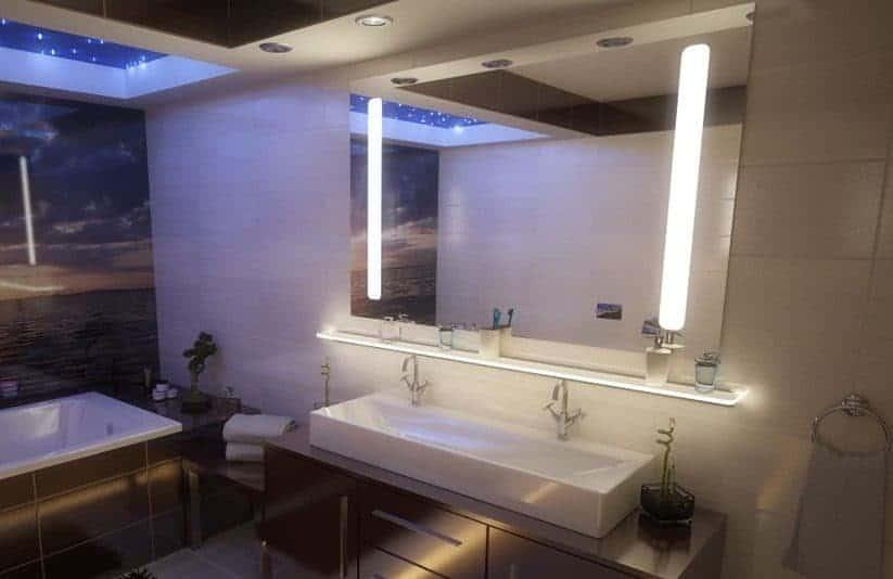Lustro podświetlane LED