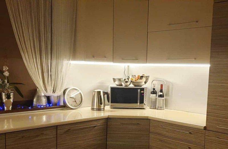 Zestaw oświetlenia kuchennego ZOK-3 w domu Pana Kamila