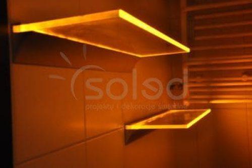 Półki podświetlane LED