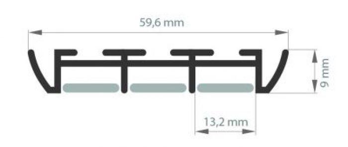 Profil Triada szeroki do 3 taśm LED