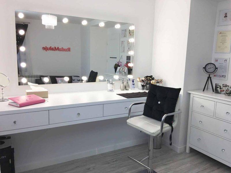 Lustro dla vlogerki kosmetycznej i kosmetologa – RudaMaluje