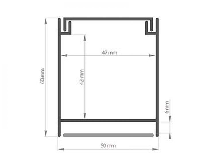Profil LED Inter – lampa sufitowa i naścienna